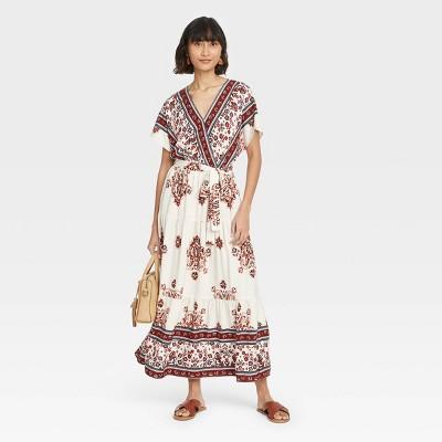 Women's Short Sleeve Wrap Dress - Knox Rose™