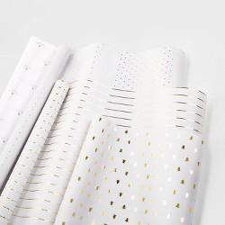 Gift Wrap Trio Gold and White - sugar paper™