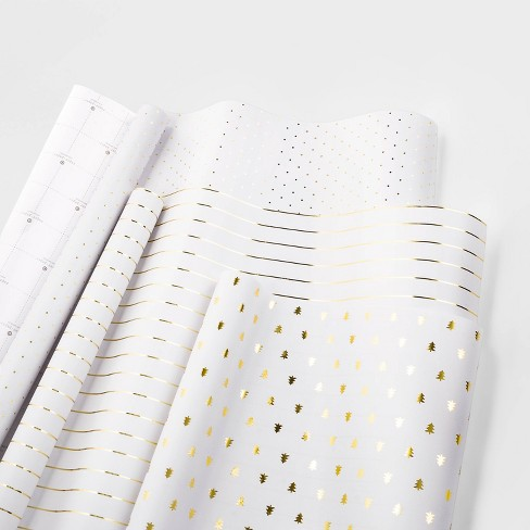 Gift Wrap Trio Gold and White - sugar paper™ - image 1 of 2