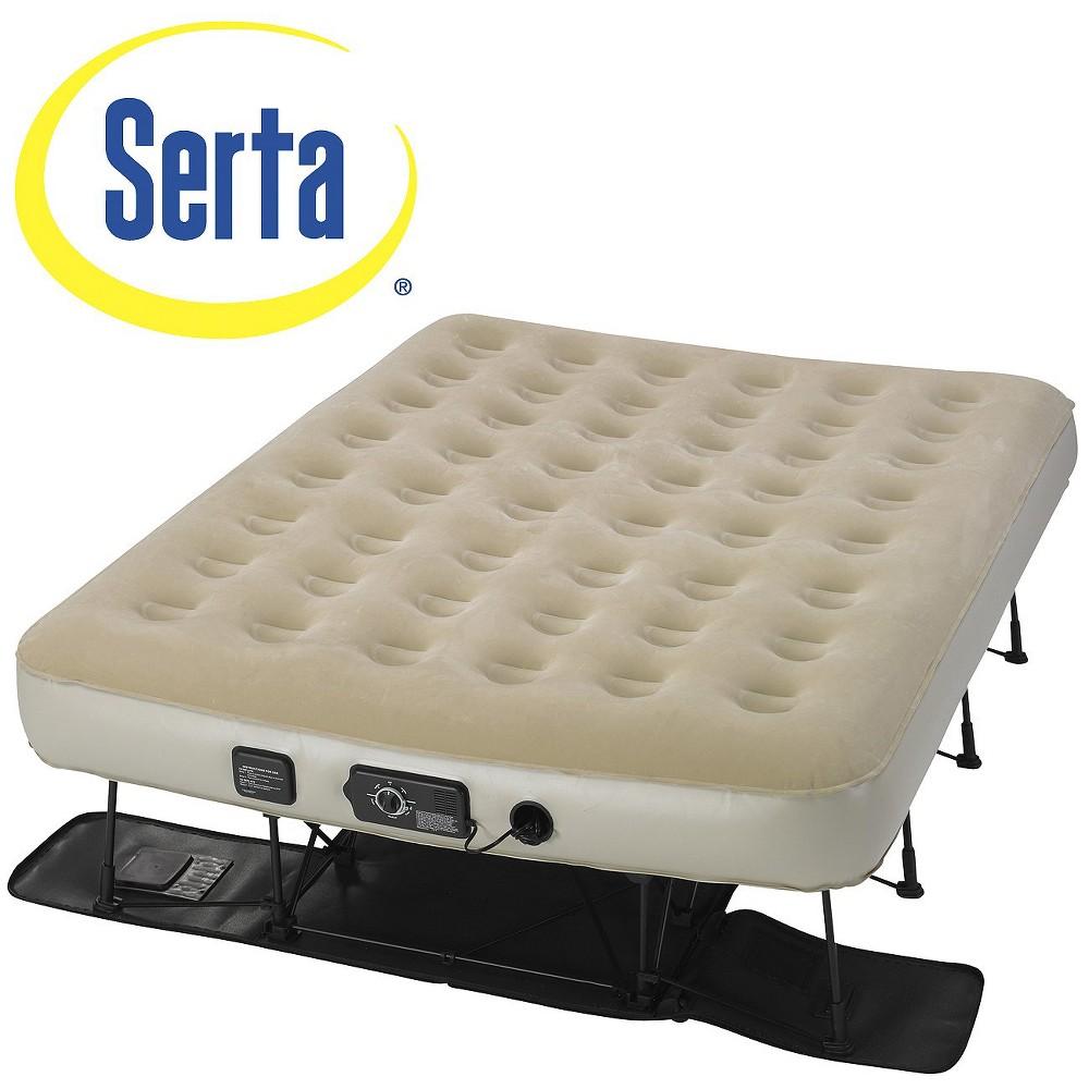 Serta EZ Bed Air Mattress - Double High Queen, Tan