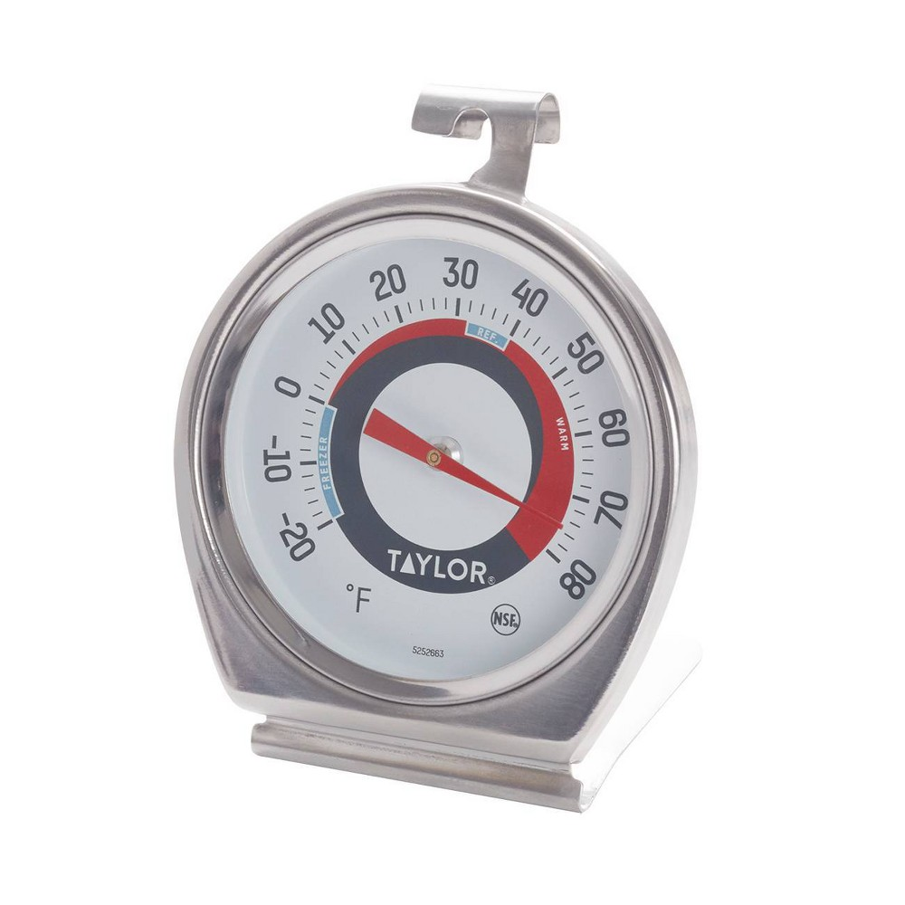 Image of Taylor Fridge/Freezer Dial Thermometer, Silver