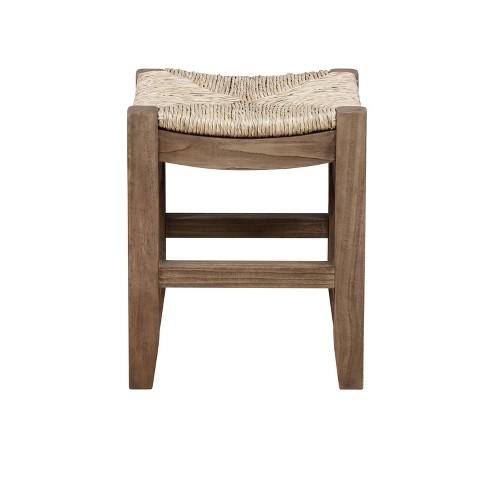 "18"" Davenport Wood Stool Light Amber - Alaterre Furniture - image 1 of 4"