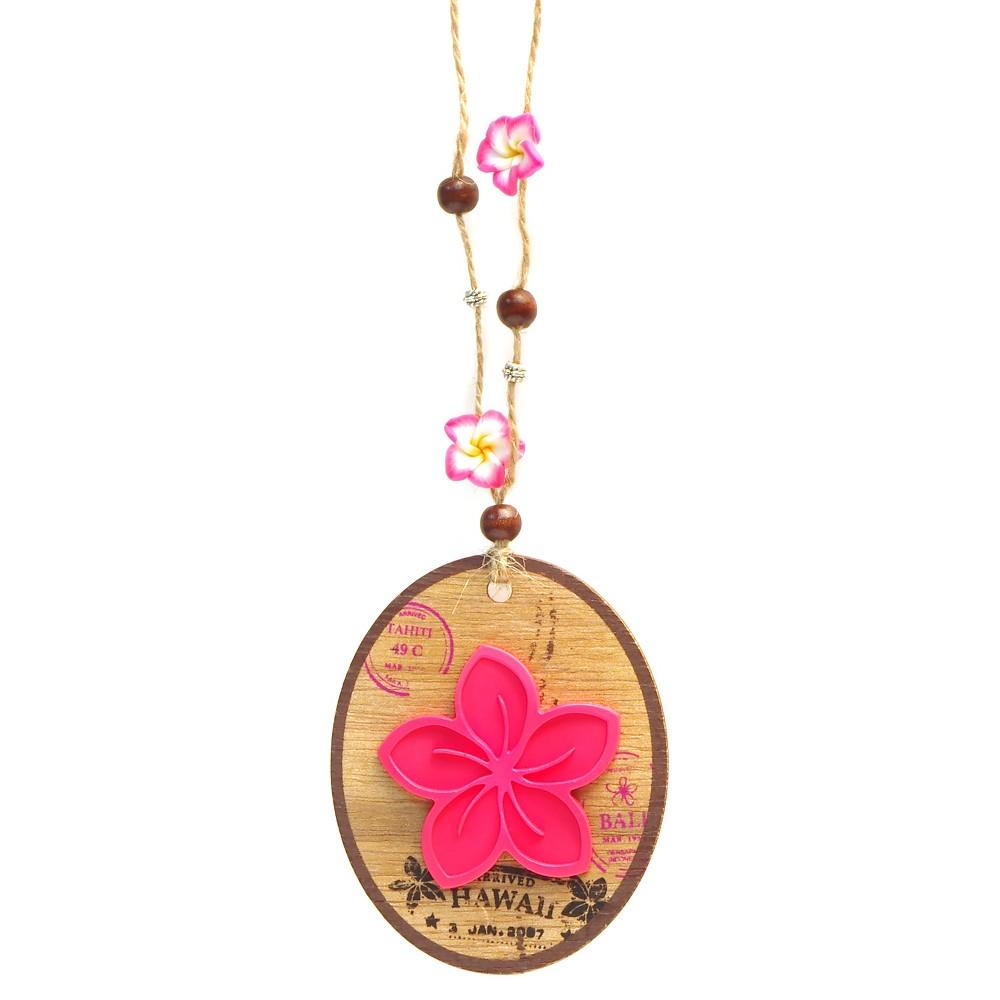 Bahama & Co. Flower Pendant - Waikiki Wild Hibiscus, Multi-Colored