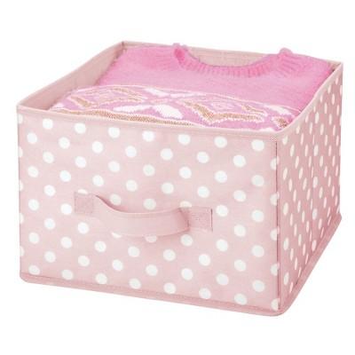 mDesign Kids Fabric Closet Storage Organizer Cube Bin, 4 Pack