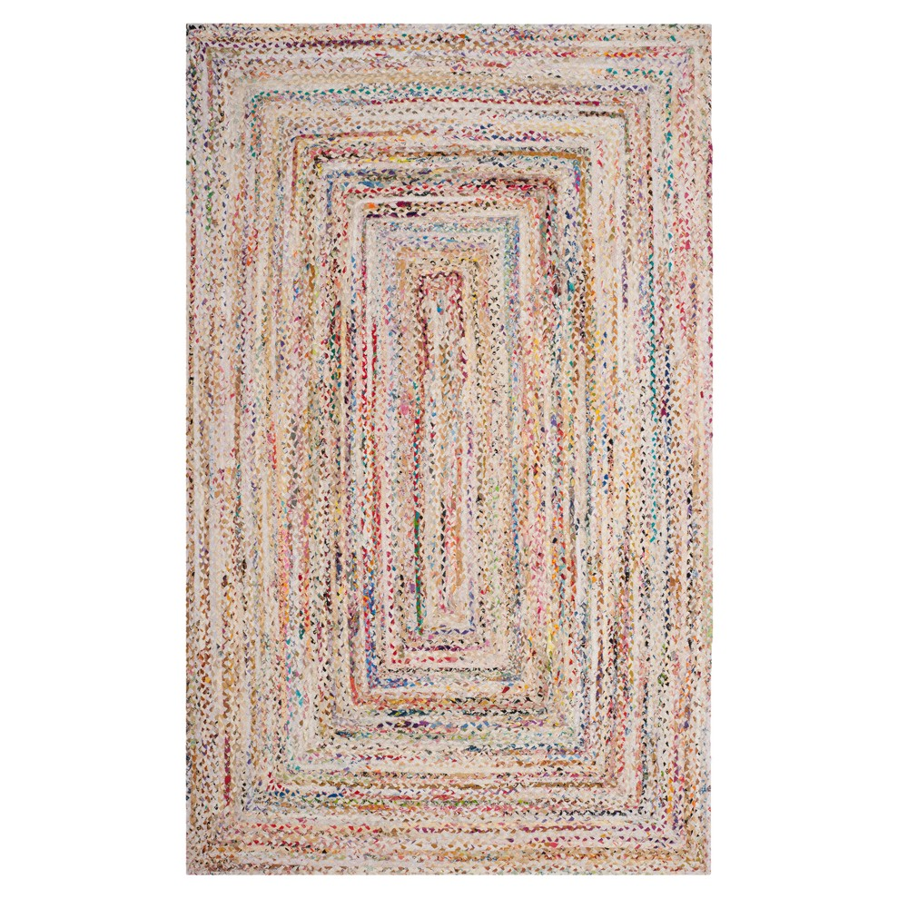 Ivory Swirl Woven Area Rug 5'X8' - Safavieh, Ivorynmulti-Colored