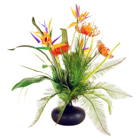 """Artificial Mixed Floral Arrangement Yellow/Red/Purple 20"""" - LCG Florals - image 1 of 1"""