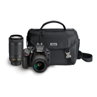 Nikon D3400 D-SLR 2-Lens Kit 24.2MP with Bag - Black (13537)