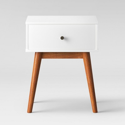 Amherst Mid Century Modern Two-Tone Side Table -White/Brown - Project 62™