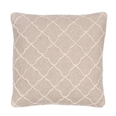 Palladium Grey Rope Sparkle Burlap Decorative Pillow - Levtex Home