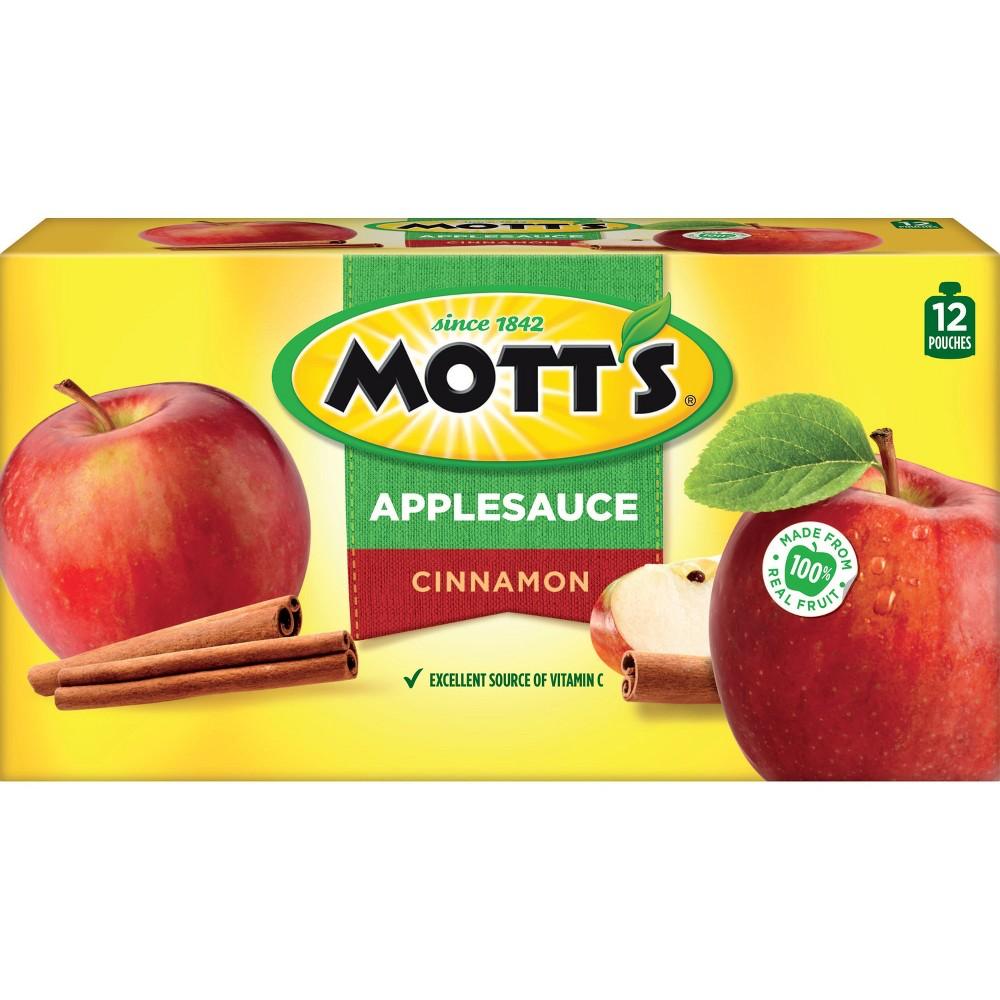 Mott's Cinnamon Applesauce - 12ct/3.2oz Pouches