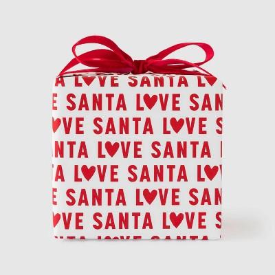 Red Love Santa Gift Wrap - Sugar Paper™