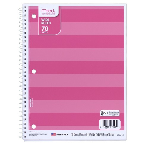 Mead Wide Ruled 70 Sheets Notebook - image 1 of 1