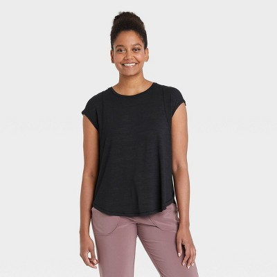 Women's Wrap Front Short Sleeve Top - All in Motion™