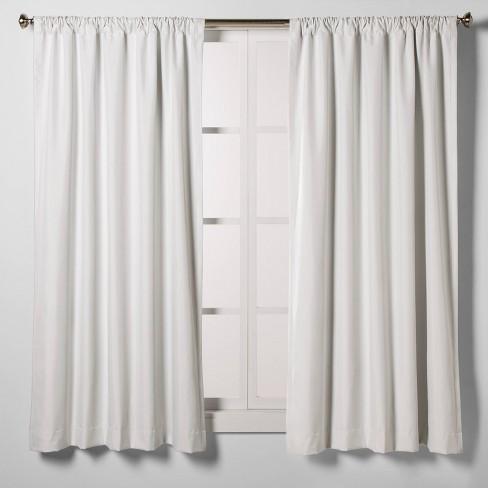 Heathered Thermal Room Darkening Curtain Panel - Room Essentials™ - image 1 of 4