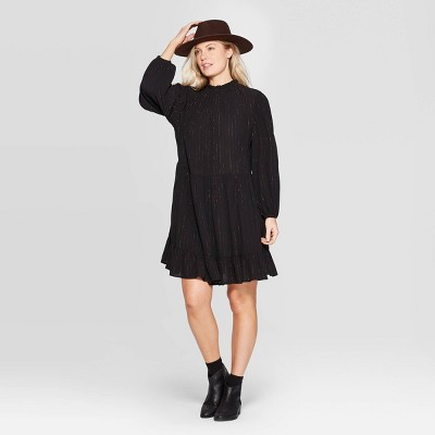 Women's Long Sleeve Mock Turtleneck Babydoll Dress   Universal Thread™ by Universal Thread