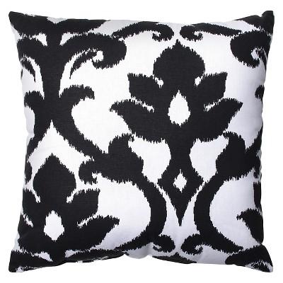 Pillow Perfect Azzure Throw Pillow - Black (16.5 x16.5 )