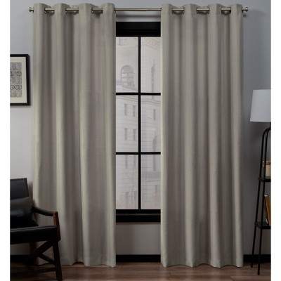 Set of 2 Loha Linen Window Curtain Panel - Exclusive Home™