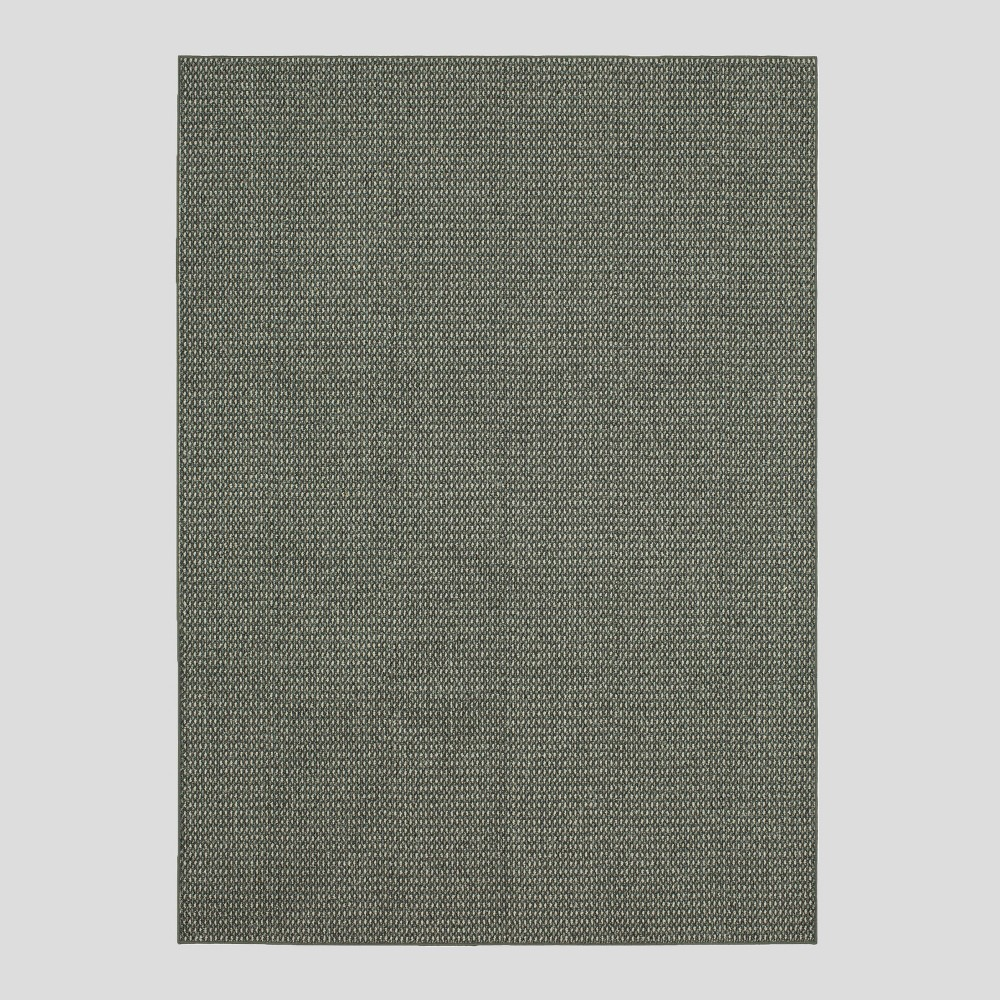 Image of 9'X12' Indoor/Outdoor Solid Tufted Area Rug Gray - Made By Design