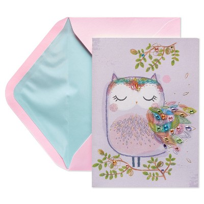 Mothers Day Card Owl with Gemstones - PAPYRUS