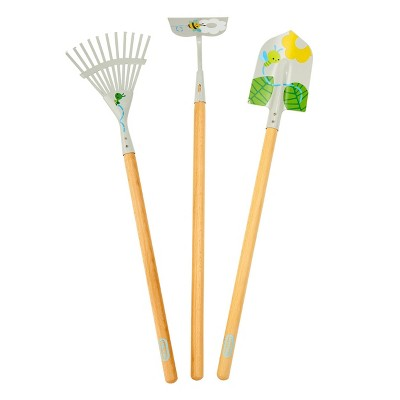 Little Tikes Growing Garden Large Tool Set with Lightweight & Durable Metal Shovel, Rake, Garden Hoe for Kids'