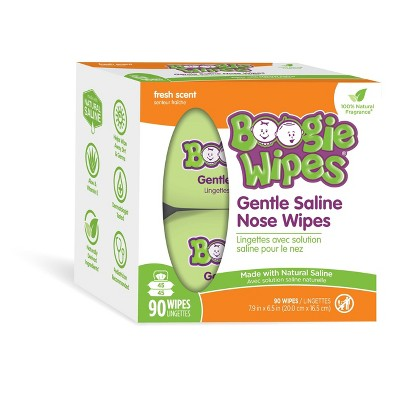 Boogie Wipes Saline Nose Wipes Fresh Scent - 90ct