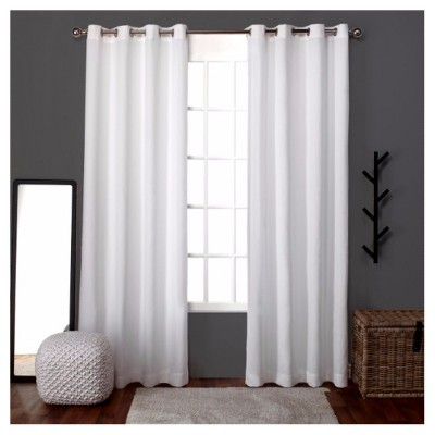 Loha Linen Window Curtain Panel Pair Winter (54 x84 )- Exclusive Home™