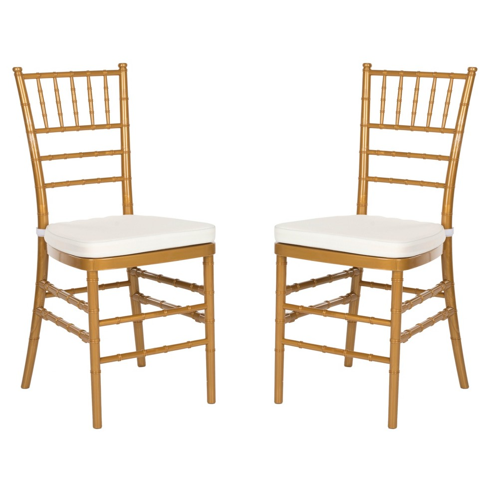 Carly Dining Chair - Gold (Set of 2) - Safavieh