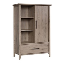 Summit Station Armoire Distressed Gray - Sauder