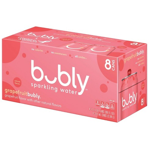 bubly Grapefruit Sparkling Water - 8pk/12 fl oz Cans - image 1 of 4