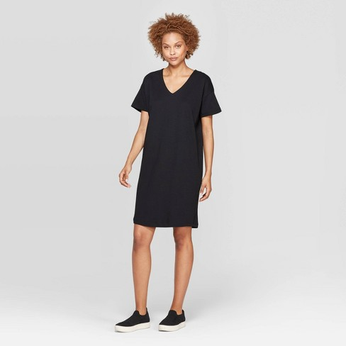 Women's Short Sleeve V-Neck T-Shirt Dress - Prologue™ - image 1 of 3