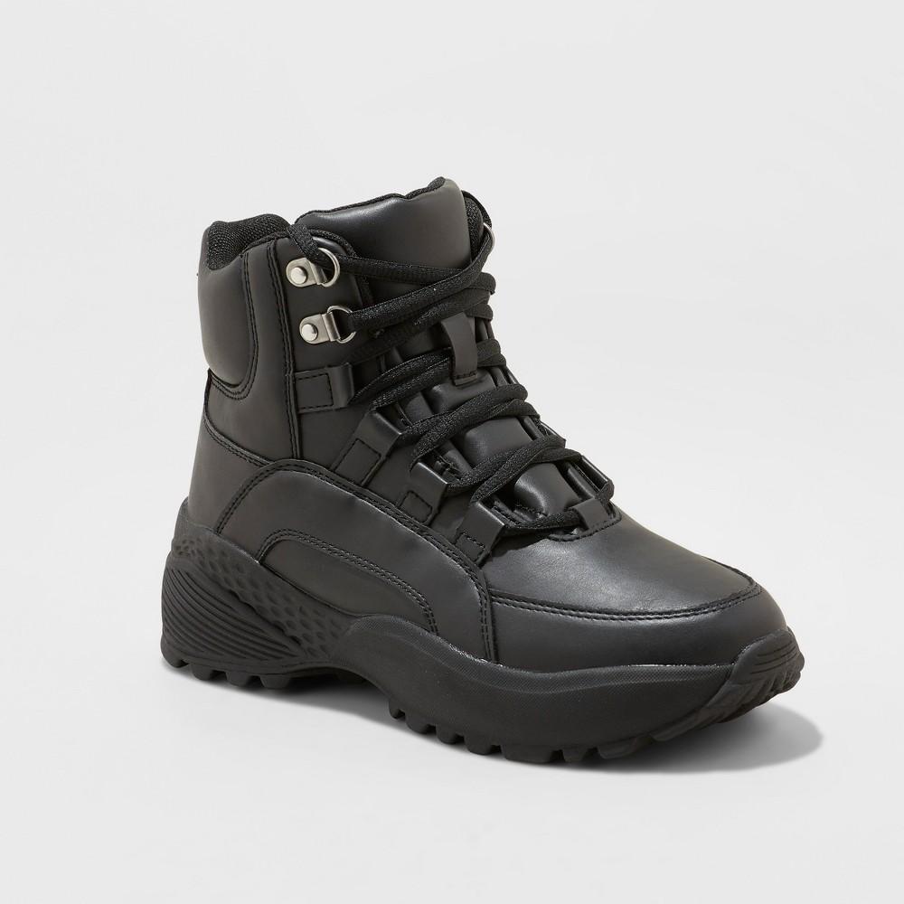 Women's Corene High Top Chunky Sneakers - Wild Fable Black 7.5