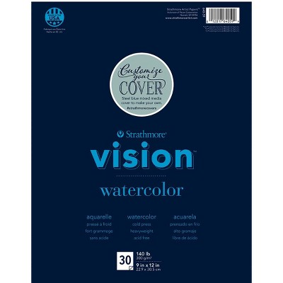 Strathmore Vision Watercolor Pad, 9 x 12 Inches, 140 lb, 30 Sheets