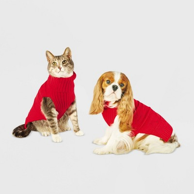 Holiday Dog and Cat Sweater - Red - Wondershop™