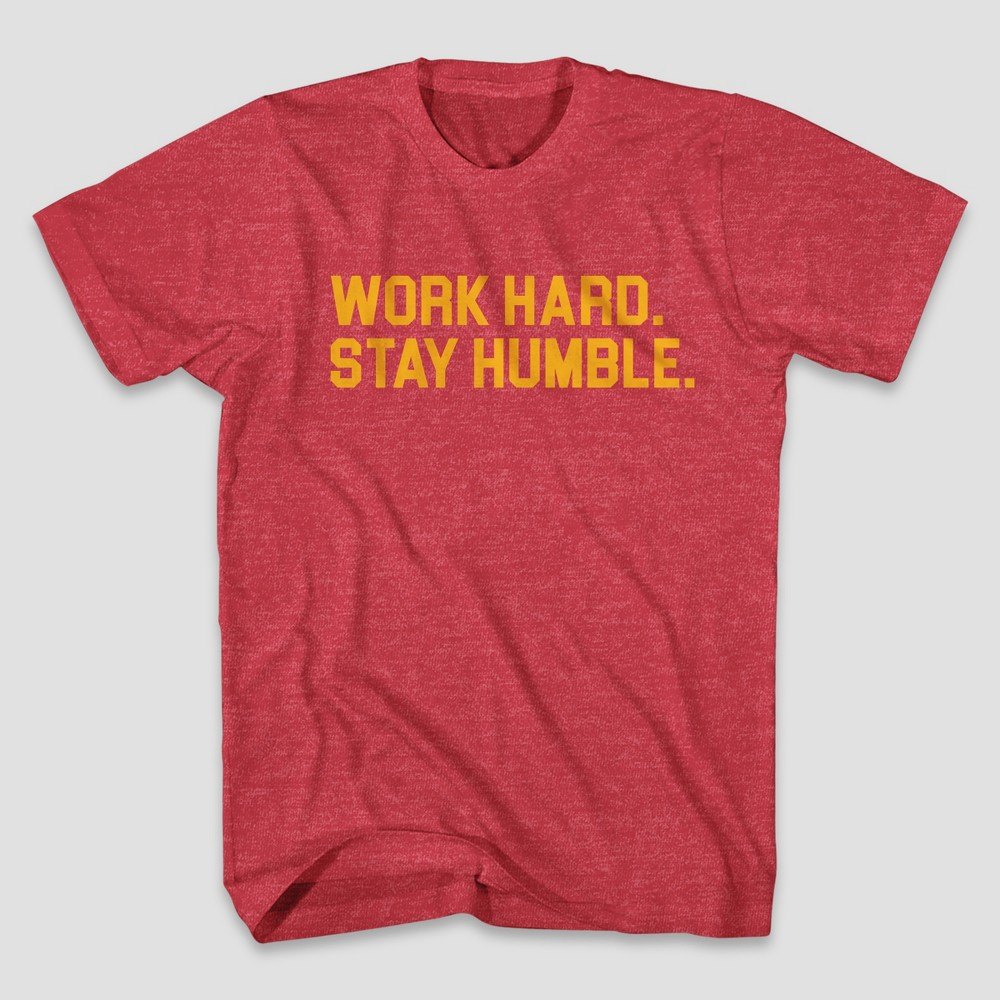 Men's Stay Humble Short Sleeve Graphic T-Shirt - Red XL