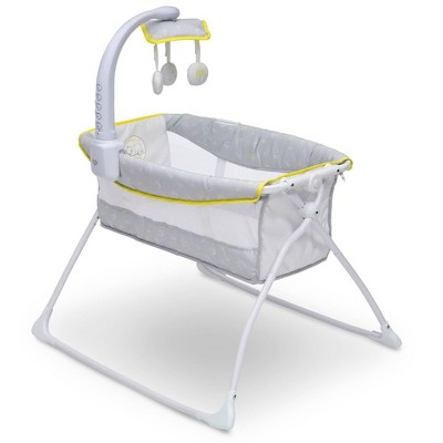 Disney Winnie the Pooh Deluxe Activity Sleeper Bassinet for Newborns - Gray