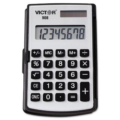 Victor 908 Portable Pocket/Handheld Calculator 8-Digit LCD