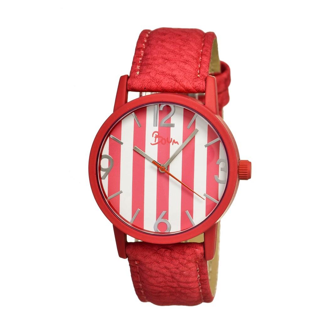 Women's Boum Gateau Watch with Genuine Leather Strap - Pink