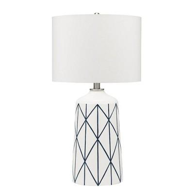 "32"" Capetown Table Lamp White - Cresswell Lighting"