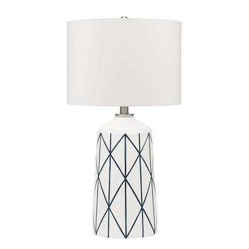 "32"" Capetown Table Lamp White (Includes Energy Efficient Light Bulb) - Cresswell Lighting - image 1 of 4"