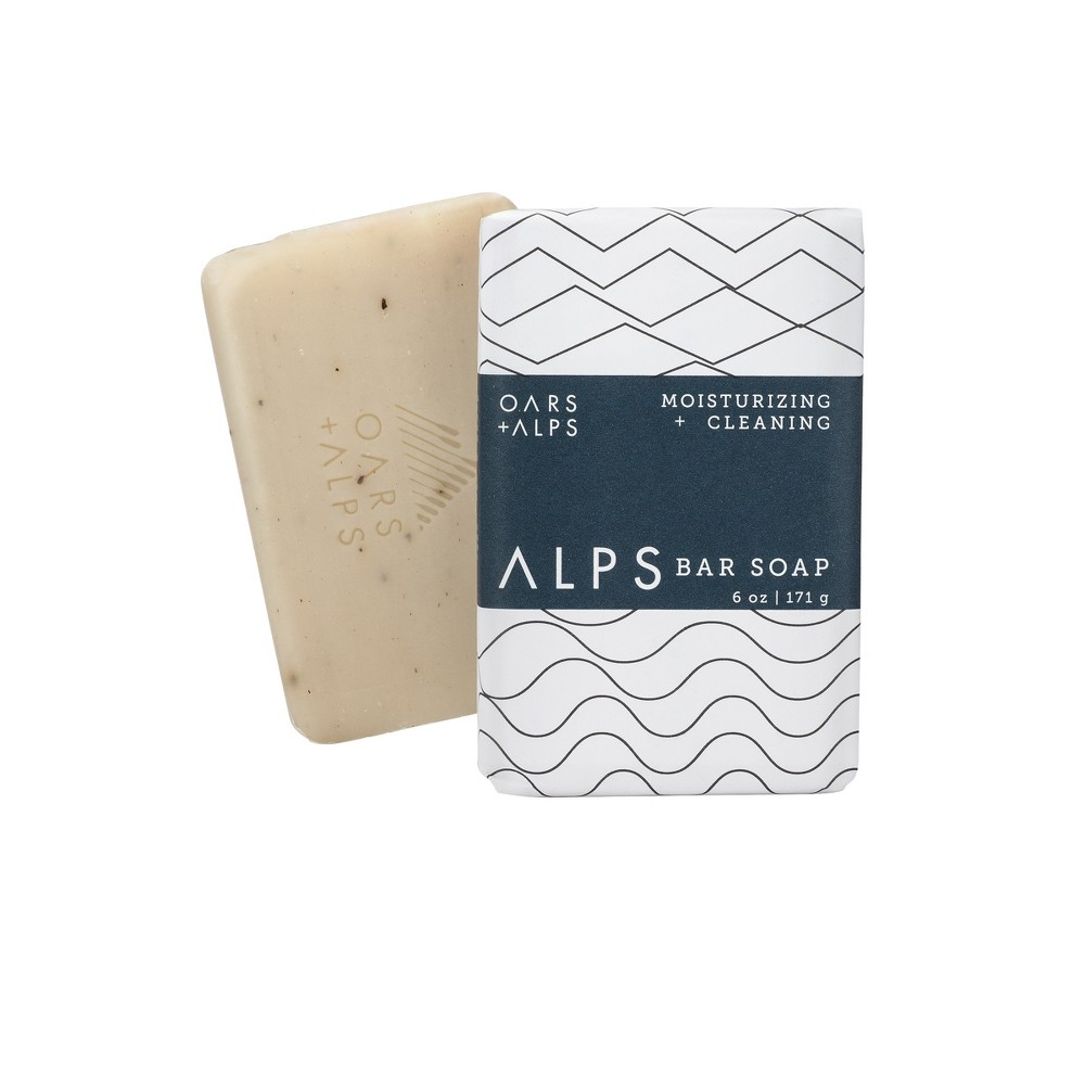 Image of Oars + Alps Men's Moisturizing Alps Bar Natural Soap and Exfoliating Body Scrub - 6oz