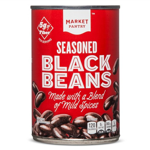 Seasoned Black Beans 15.5 oz - Market Pantry™ - image 1 of 1