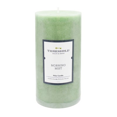 6  x 3  Mottled Pillar Candle Morning Mist - Threshold™