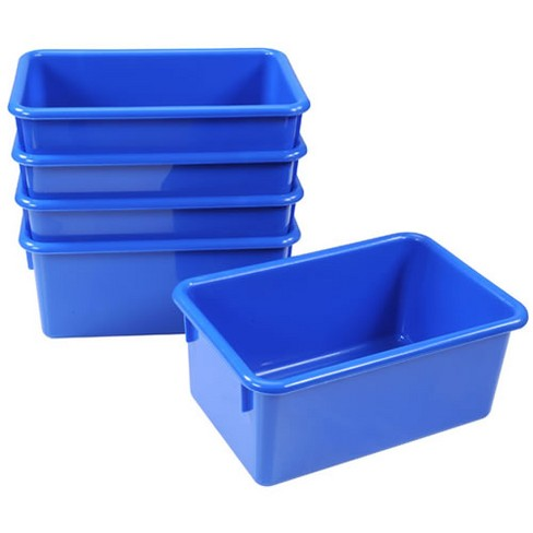 Kaplan Early Learning Blue Vibrant Color Storage Bin - Set of 5 - image 1 of 1