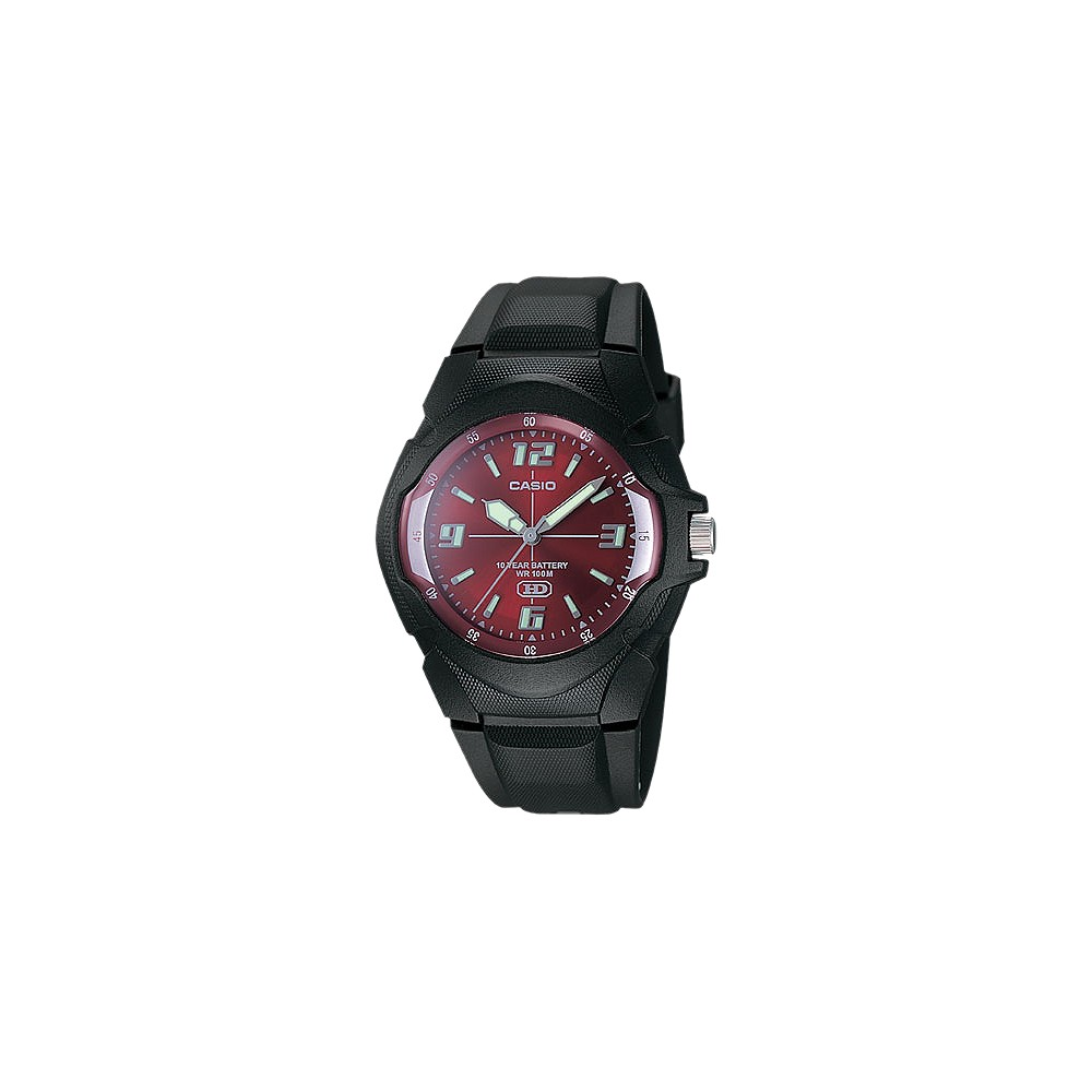 Image of Casio Men's 10-Year Battery Analog Watch - Black (MW600F-4AV), Size: Small