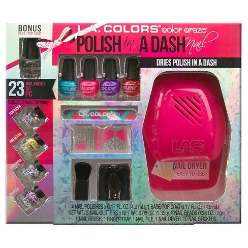 LA Colors Color Craze Nail Color Gift Set 1floz 23pc : Target