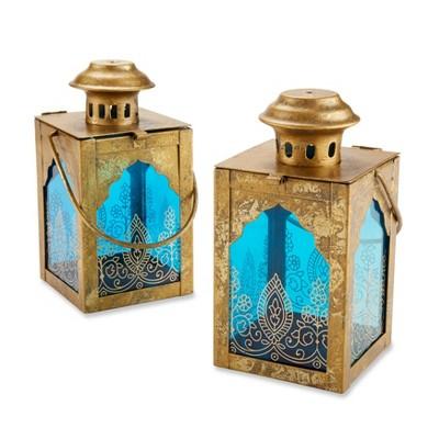3ct Indian Jewel Lanterns Gold/Blue