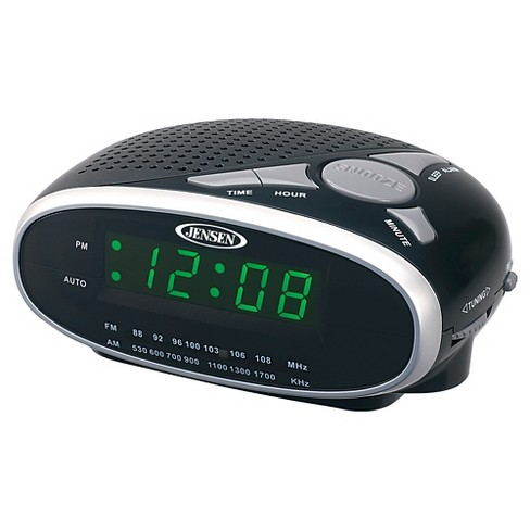 JENSEN® AM/FM Alarm Clock Radio - Black - image 1 of 3