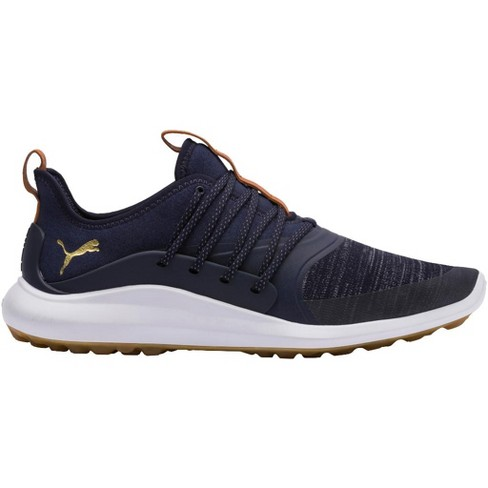 Men's Puma Ignite Nxt Solelace Spikeless Golf Shoes Peacoat/Team Gold - image 1 of 1