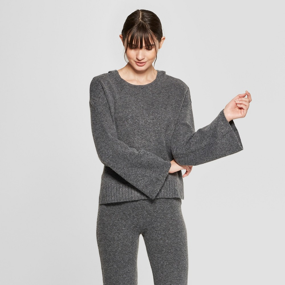 Women's Long Sleeve Hooded Pullover Sweater - Prologue Gray XS