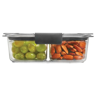 Rubbermaid Brilliance Food Storage Container, 3.2 Cup/0.75 Liter, Clear